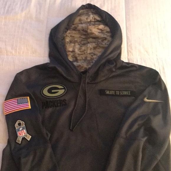 e4ae85c01 Green Bay Packers Salute to Service Nike hoodie. M 5ad08fa0f9e501e9481d6b67